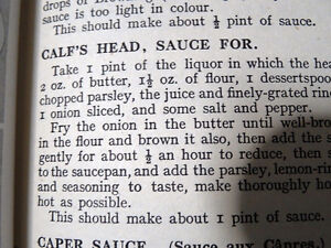 CALF'S HEAD ANYONE 1918ish Mrs BEETON'S sauces soups 1st EDITION Cambridge Kitchener Area image 2