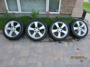 "17"" Mazda 3 5-spoke rims and Goodyear RSA tires 5x114.3 pattern"