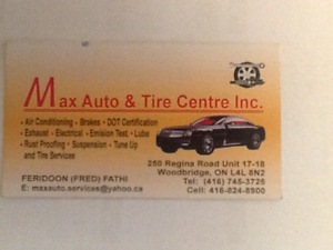 Max auto and tire centre inc
