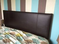 King size divan bed base and headboard