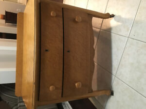 Antique night stand and mirror