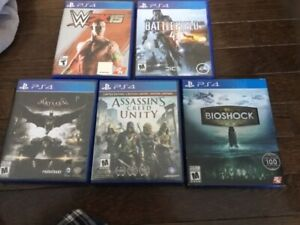Several PS4 games for sale
