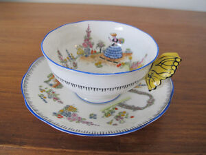 butterfly handle teacup