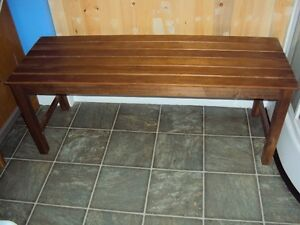 Teak bench 44 inches long 15 inches deep