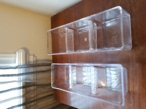 Acrylic storage trays