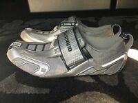 Shimano TR50 Carbon Sole Triathlon/Road Bike Shoe with Look Cleats size 9.5 Eu 45