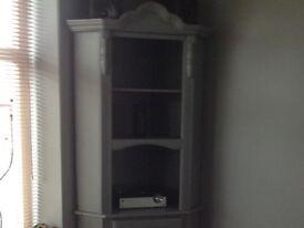 Tall grey corner unit
