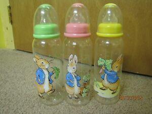 Set of 3 Peter Rabbit Baby Bottles
