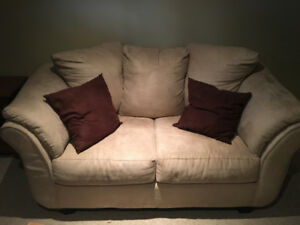 Beige Suede Couches from Leon's