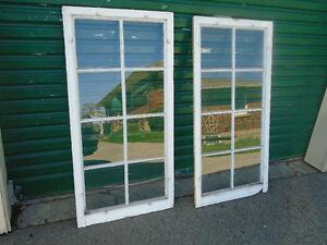 2 Large Vintage Wood Paned Windows Picture Frames Weddings Craft