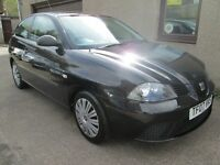 SEAT Ibiza 1.2I 12V REFERENCE WITH ONLY 69743 MILES AND FSH (black) 2007