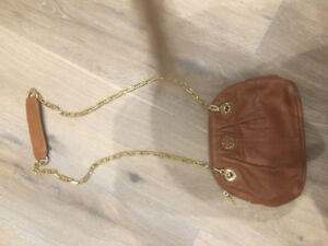 Brown leather Tory Burch bag