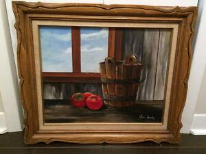 PEINTURE TOILE D'ARTISTE LILIANE LANDRY / ARTIST PAINTING
