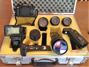 Canon A-1 camera set