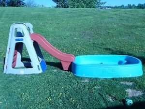 Durable Kiddie Pool with Slide