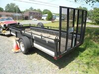 custom built-5ft by 12ft single axle with ramp