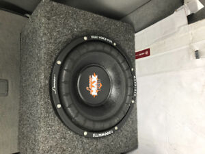 """2 10"""" sub woofers in boxes . Perfect condition. 125.00, 150.00"""