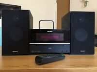SonyMini Hi-Fi with iPod Dock, CD and DAB radio in excellent condition