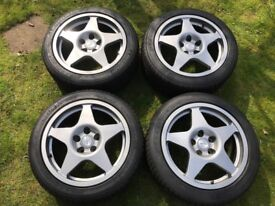 Mitsubishi Evo 9 FQ360 17 inch Speedline Alloy Wheels and Tyres