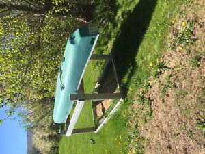 15' skimmer square back canoe