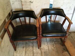4 Black Club Chairs for SALE