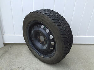 Winter Tires + Steel Rims For Car