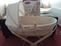 Moses basket,stand and Cleva mama pillow.