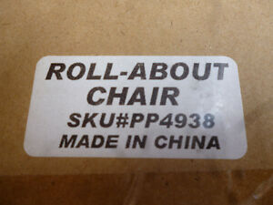 Roll About Chair 3 legs with casters adjusts 27-34 inches NIB London Ontario image 8