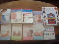 Pregnancy Books and Baby/Toddler self help books 10 titles.