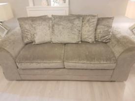 silver velvet sofas