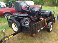 Riding lawn tractor with snowblower**trailer included**