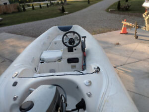 Mercury inflatable with 30hp yamaha and trailer