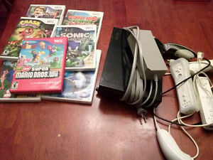 Nintendo Wii and 7 games