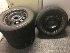 Winter Tires and Rims (4) size 205/60R16