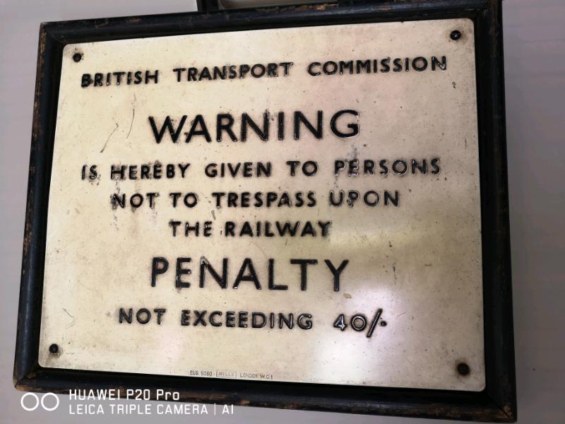 Rare British railways trespass sign | in Calcot, Berkshire | Gumtree
