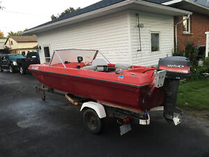 Nice small boat Motor and trailer