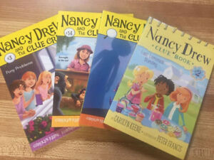 4 Nancy Drew Clue books by Carolyn Keene (Ages 6-9)