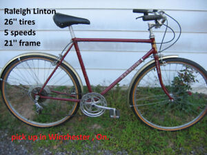 Raleigh commuter bicycle