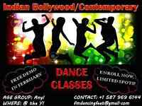 Indian Bollywood/Contemporary/Bhangra Dance Classes