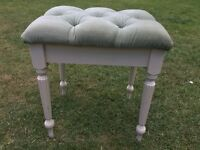 Vintage Dressing Table Stool Green Velour VGC