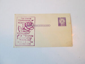 73rd Annual Tournament of Roses Pasadena CA 1962 Postcard