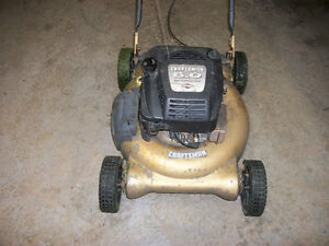 Sears Craftsman 6 HP Lawnmower for sale.  Starts and runs well,