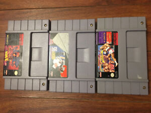 Various Super Nintendo Games