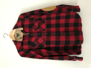 ROOTS Algonquin Buffalo Plaid Flannel Button Down Shirt