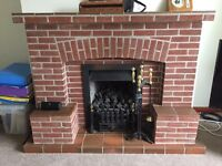 Vaneer fireplace and gas fire