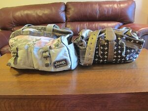 Two Diaper bags: JJCOLE and Jeep