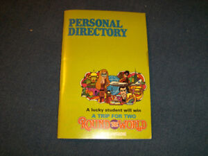 1979 TRANS CANADA TELEPHONE SYSTEM PERSONAL DIRECTORY-UNUSED!