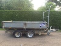 Ifor Williams 10ft 3.5 tonne electric tipper trailer