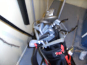 3 GOLF SETS  CLUBS BAGS AND CARTS
