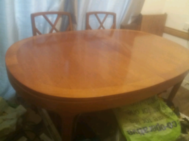 Table and 6 chairs G plan